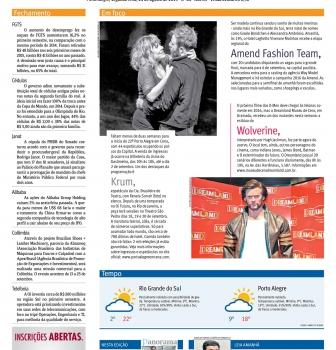 Notícia no Jornal do Comércio, de Porto Alegre